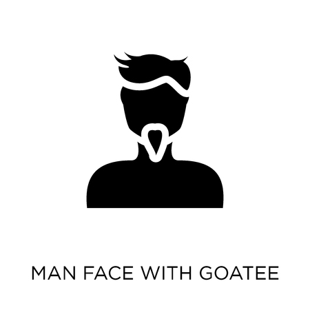 Man face with goatee icon. Man face with goatee symbol design from People collection. Simple element vector illustration on white background. Illustration