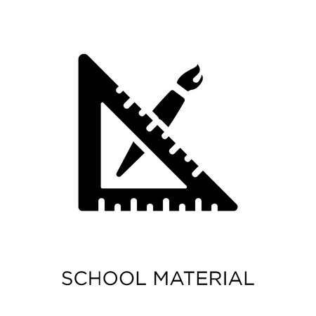 School material icon. School material symbol design from Education collection. Vettoriali