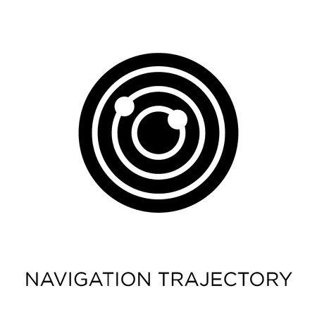 Navigation trajectory icon. Navigation trajectory symbol design from Maps and locations collection. Simple element vector illustration on white background.