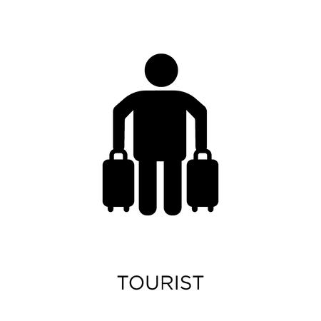 Touristische Ikone. Touristisches Symboldesign aus der Reisekollektion. Einfache Elementvektorillustration auf weißem Hintergrund. Vektorgrafik