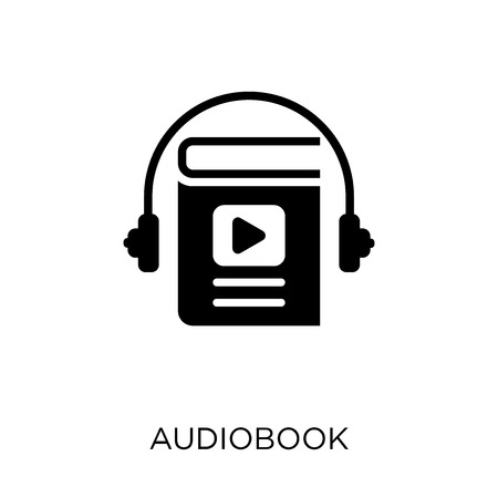 Audiobook icon. Audiobook symbol design from Education collection. Stock Illustratie