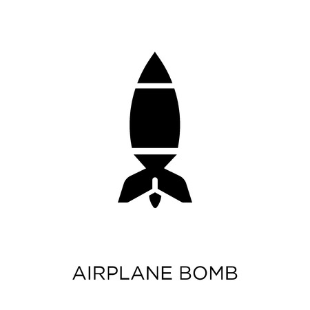Airplane Bomb icon. Airplane Bomb symbol design from Army collection.