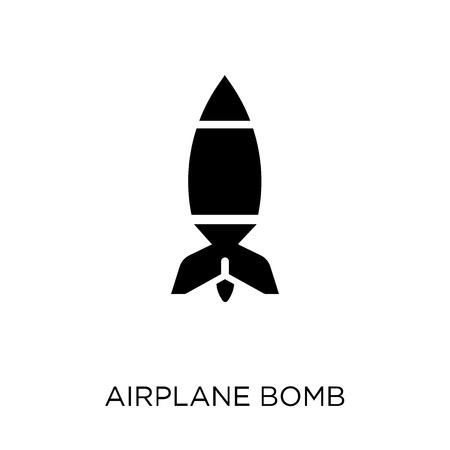 Icona della bomba dell'aeroplano. Disegno di simbolo della bomba dell'aeroplano da collezione Army.