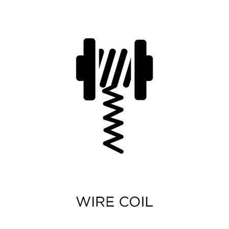 wire coil icon. wire coil symbol design from Sew collection. Simple element vector illustration on white background. Illustration