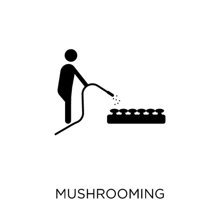 Mushrooming icon. Mushrooming symbol design from Activity and Hobbies collection. Simple element vector illustration on white background.
