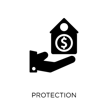 Protection icon. Protection symbol design from coverage collection.