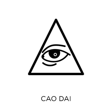 Icône de cao dai. Conception de symbole Cao dai de la collection Religion. Illustration vectorielle élément simple sur fond blanc.