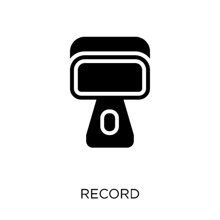 Record icon. Record symbol design from User interface collection. Simple element vector illustration on white background.