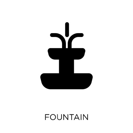 Fountain icon. Fountain symbol design from Architecture collection. Simple element vector illustration on white background. Ilustracja