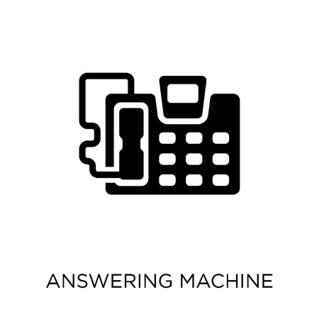 answering machine icon. answering machine symbol design from Electronic devices collection.