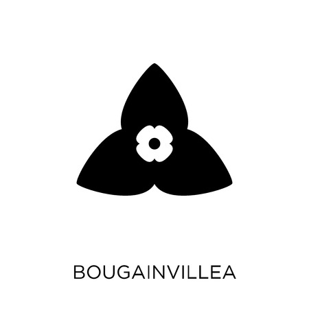 Bougainvillea icon. Bougainvillea symbol design from Nature collection. Simple element vector illustration on white background. Stock Illustratie