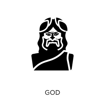 God icon. God symbol design from Religion collection. Simple element vector illustration on white background. Illustration