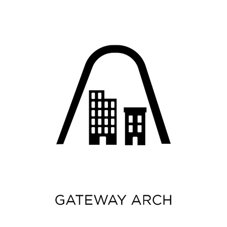 Gateway arch icon. Gateway arch symbol design from Architecture collection. Simple element vector illustration on white background.