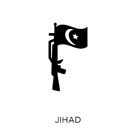 jihad icon. jihad symbol design from Religion collection. Simple element vector illustration on white background. Ilustração
