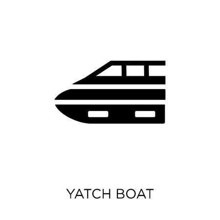 Yatch boat icon. Yatch boat symbol design from Summer collection. Simple element vector illustration on white background. Vettoriali