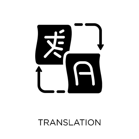 Translation icon. Translation symbol design from Online learning collection.