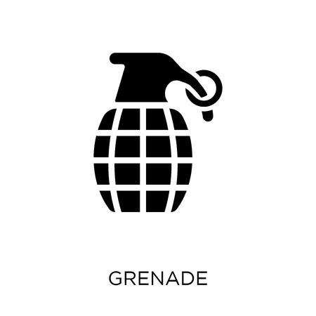 Grenade icon. Grenade symbol design from Army collection. 向量圖像