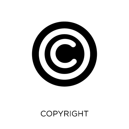 Copyright icon. Copyright symbol design from SEO collection. Simple element vector illustration on white background.