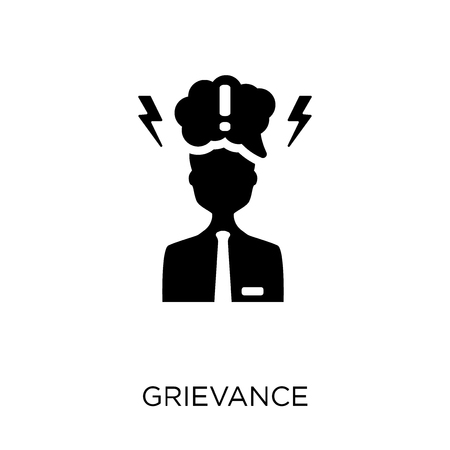 Grievance icon. Grievance symbol design from Time managemnet collection.