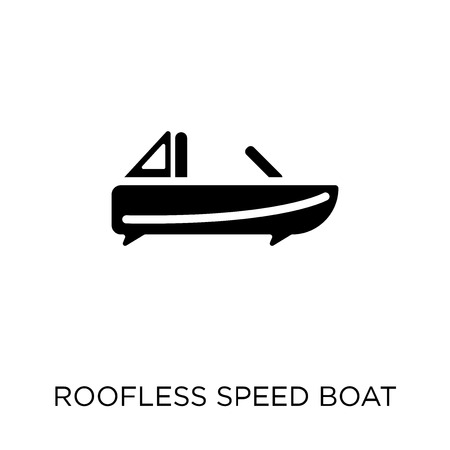 Roofless Speed Boat icon. Roofless Speed Boat symbol design from Nautical collection. Simple element vector illustration on white background.
