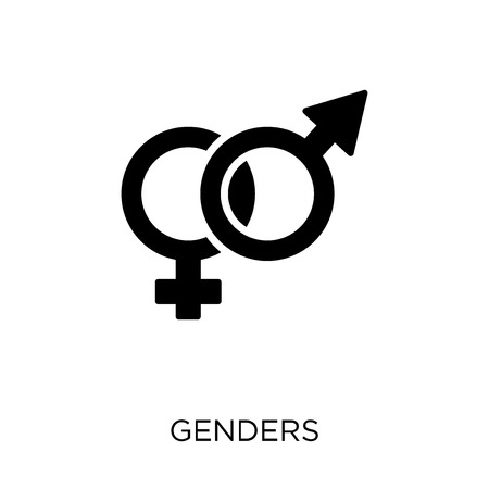 Genders icon. Genders symbol design from Wedding and love collection. Simple element vector illustration on white background. Stock Illustratie