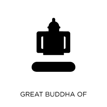 Great buddha of thailand icon. Great buddha of thailand symbol design from Travel collection. Simple element vector illustration on white background. Иллюстрация