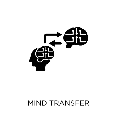 Mind transfer icon. Mind transfer symbol design from Artificial Intellegence collection.