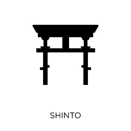 Shinto icon. Shinto symbol design from Religion collection. Simple element vector illustration on white background. Illustration