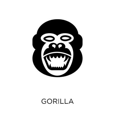 Gorilla icon. Gorilla symbol design from Animals collection. Simple element vector illustration on white background.