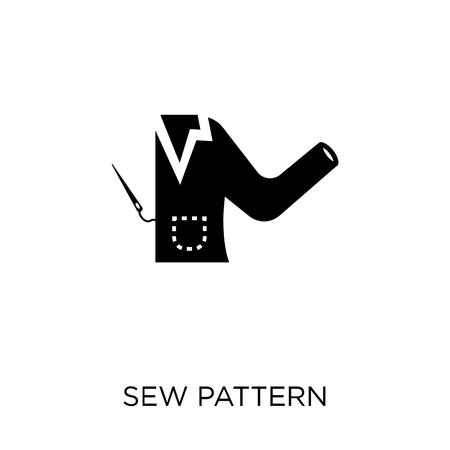 Sew Pattern icon. Sew Pattern symbol design from Sew collection. Simple element vector illustration on white background.