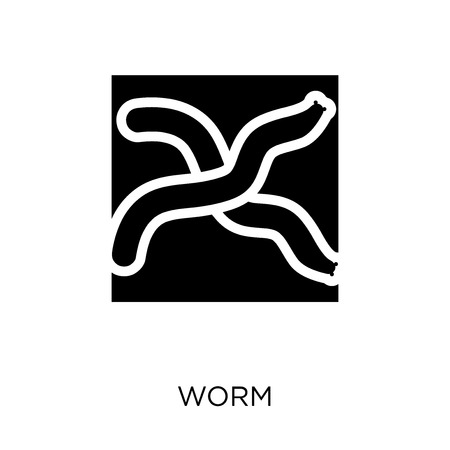 Worm icon. Worm symbol design from Agriculture, Farming and Gardening collection. Simple element vector illustration on white background.