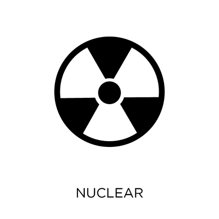 Nuclear icon. Nuclear symbol design from Army collection.