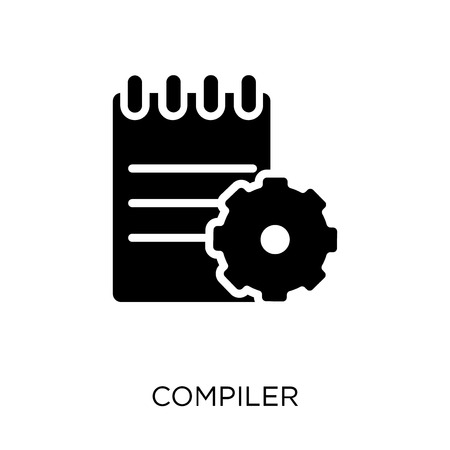 Compiler icon. Compiler symbol design from Programming collection. Simple element vector illustration on white background.  イラスト・ベクター素材