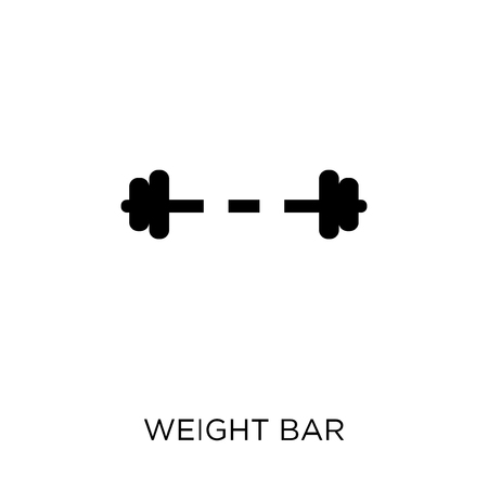 Weight bar icon. Weight bar symbol design from Gym and fitness collection. Simple element vector illustration on white background.