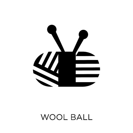 Wool ball icon. Wool ball symbol design from Sew collection. Simple element vector illustration on white background.