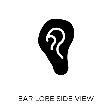 Ear lobe side view icon. Ear lobe side view symbol design from Human Body Parts collection. Illustration