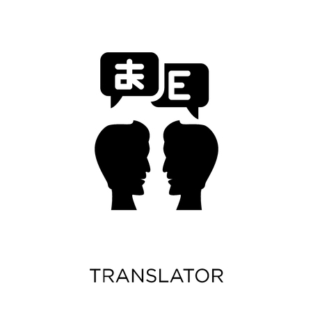 Translator icon. Translator symbol design from Online learning collection.