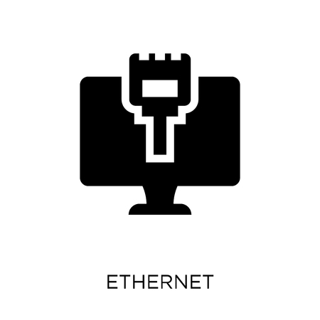 Ethernet icon. Ethernet symbol design from Networking collection. Simple element vector illustration on white background.
