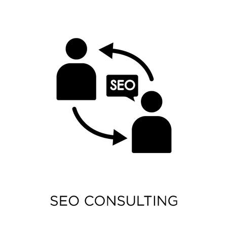 Seo Consulting icon. Seo Consulting symbol design from SEO collection. Simple element vector illustration on white background.