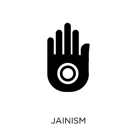Jainism icon. Jainism symbol design from Religion collection. Simple element vector illustration on white background.