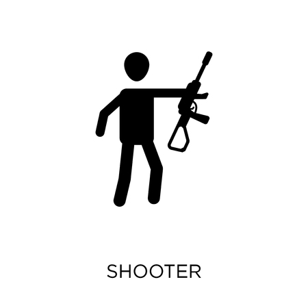 Shooter icon. Shooter symbol design from Arcade collection.
