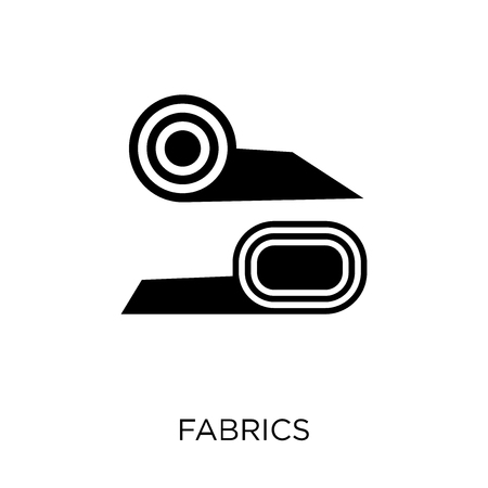 Fabrics icon. Fabrics symbol design from Sew collection. Simple element vector illustration on white background.