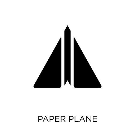 Paper plane icon. Paper plane symbol design from Startup collection. Simple element vector illustration on white background. Illustration