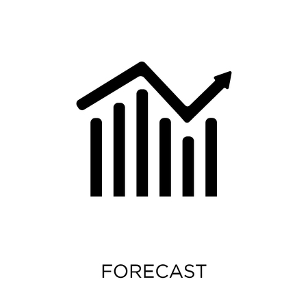 Forecast icon. Forecast symbol design from Weather collection. Simple element vector illustration on white background.