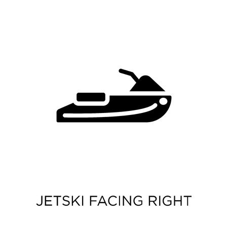 Jetski Facing Right icon. Jetski Facing Right symbol design from Nautical collection. Simple element vector illustration on white background. Illustration
