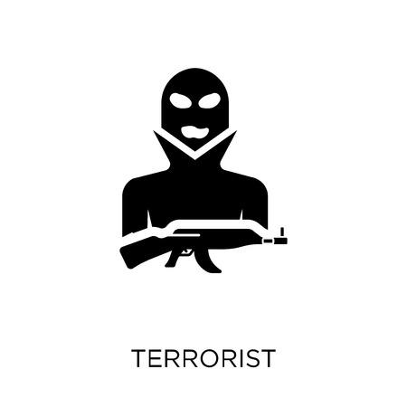 Icona terrorista. Disegno di simbolo del terrorista da collezione Army.