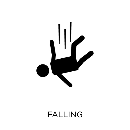 Falling icon. Falling symbol design from Insurance collection.