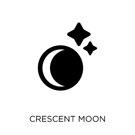 Crescent moon icon. Crescent moon symbol design from Astronomy collection.