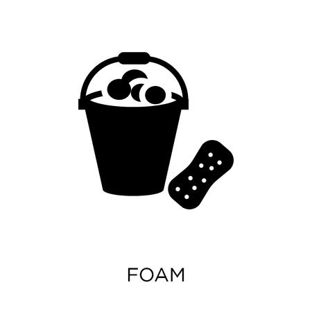 Icône de mousse. Conception de symbole en mousse de la collection Hygiène. Illustration vectorielle élément simple sur fond blanc.