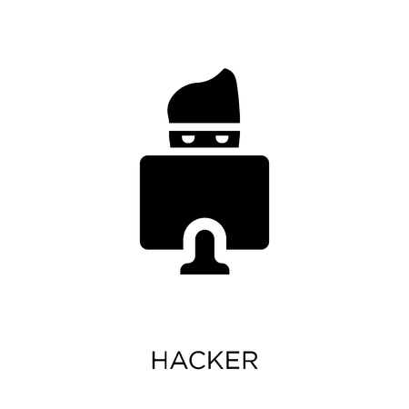 Hacker icon. Hacker symbol design from Internet security collection. Simple element vector illustration on white background.